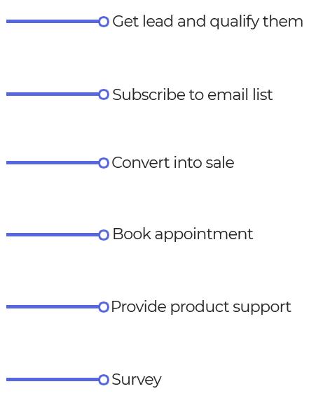 Obtenga más clientes potenciales y conversiones con Chatbots atractivos 12