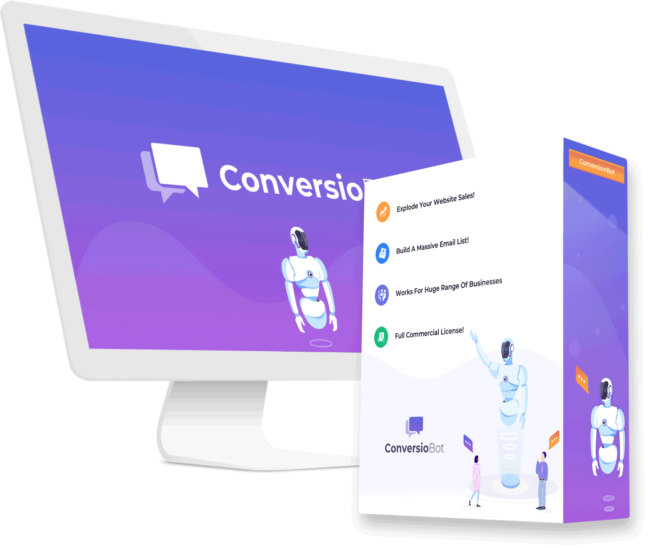 Conversiobot box view and screen graphic