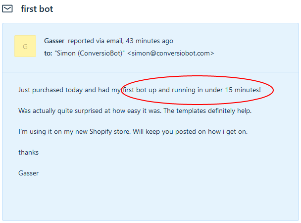 Conversiobot   Cpa & Revshare Available!  Image of gasser testimonial